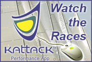 Watch the Races with Kattack Perfromance Appilcation uses common hand held GPS units